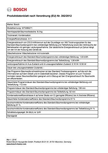 Bosch WTW86271 Wärmepumpentrockner - 9