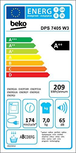 Beko DPS 7405 W3 Wärmepumpentrockner (A++) - 6