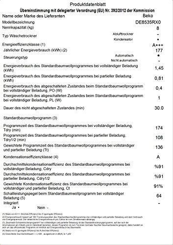 Beko DE8535RX0 Wärmepumpentrockner (A+++) - 6