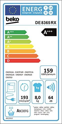 Beko DE8635RX Wärmepumpentrockner (A+++) - 5