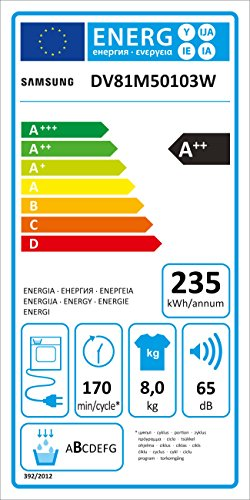 Samsung DV5000 DV81M50103W/EG Wärmepumpentrockner (A++) - 6