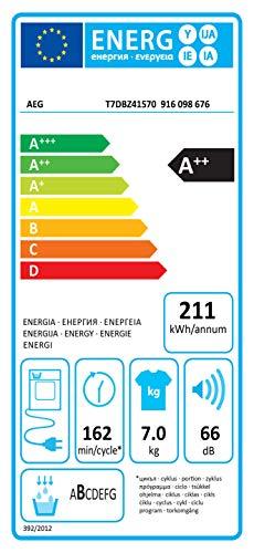 AEG T7DBZ41570 Wärmepumpentrockner (A++) - 10
