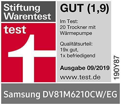 Samsung DV6000 DV81M6210CW/EG Wärmepumpentrockner (A+++) - 9