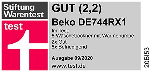 Beko DE744RX1 Kondensationstrockner mit Wärmepumpentechnologie (A++) - 6