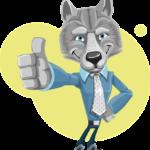 Daumen hoch Wolf